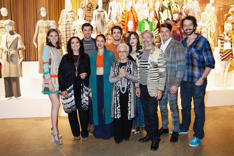 De huidige familie Missoni in het Modemuseum in Londen, 2016. Beeld WireImage
