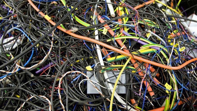 Milieucriminaliteit, zoals de illegale dump van elektronisch afval, komt steeds vaker voor. Beeld ANP