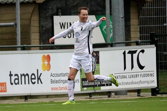 Chris van der Meulen scoorde namens Berkum drie keer in het bekerduel tegen Loenermark.