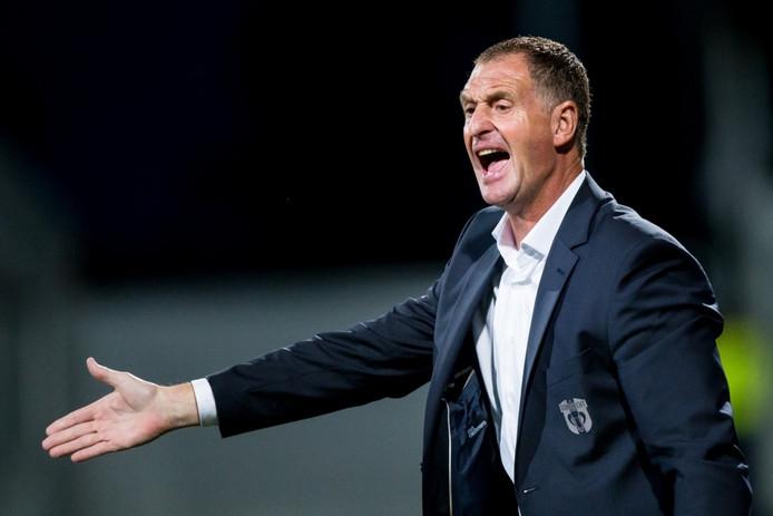 Ernie Brandts als interim-trainer bij FC Dordrecht.