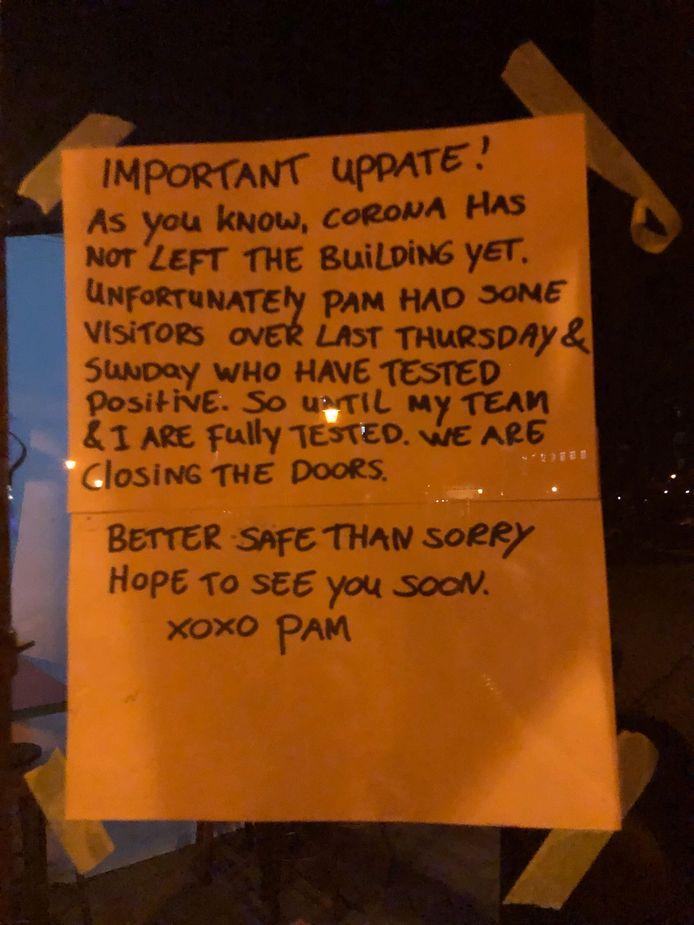 Horecazaak Pamela is gesloten.