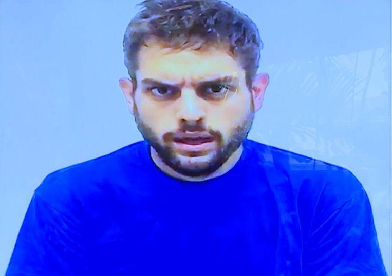 Gearresteerd parlementslid Juan Requesens in een video die door de autoriteiten werden gemaakt.