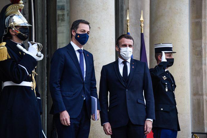Emmanuel Macron avec le Premier ministre belge, ce 1er décembre