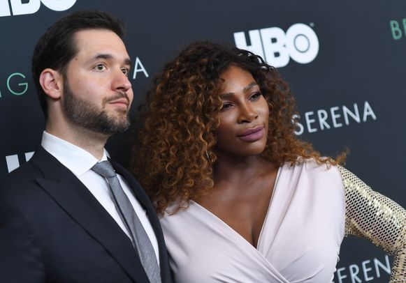 Reddit-medeoprichter Alexis Ohanian met zijn vrouw Serena Williams.