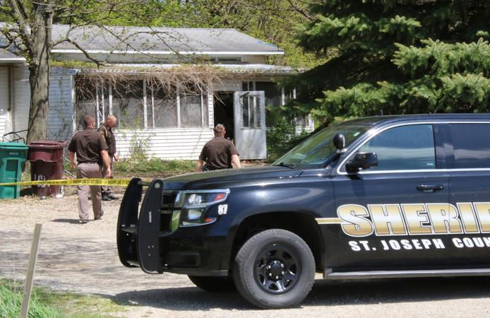De woning in Michigan waar de vrouw is doodgeschoten.