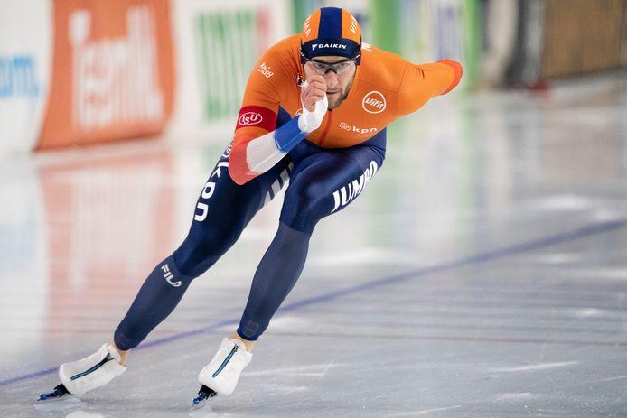 Thomas Krol in actie op de duizend meter.