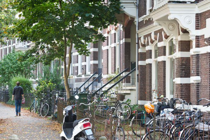 Veel verkamerde panden in de Burghardt van den Berghstraat in de Nijmeegse wijk Bottendaal.