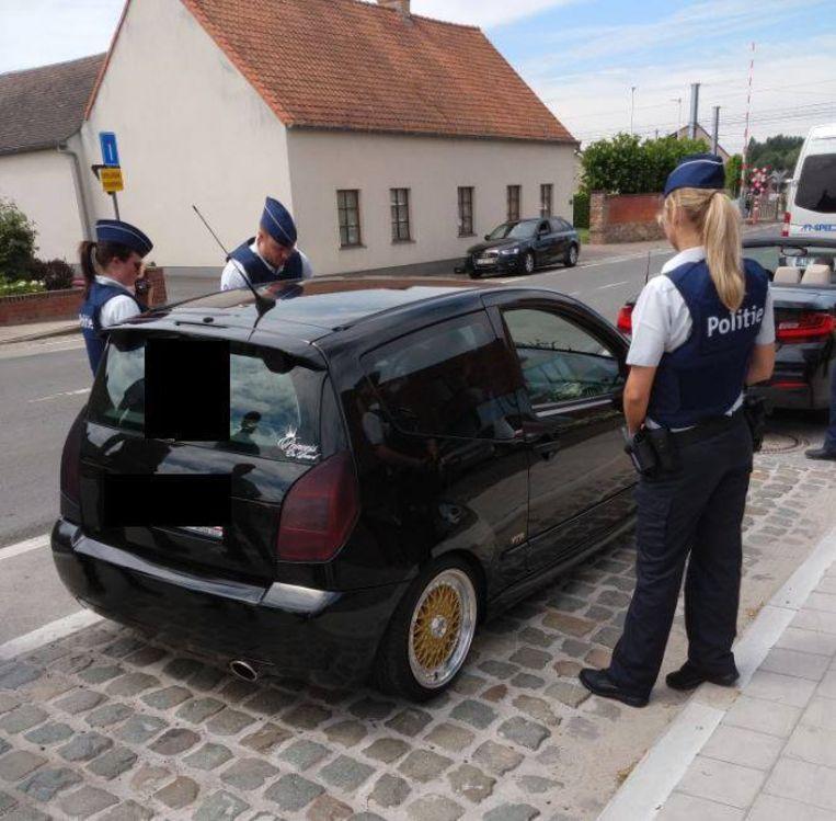 De politie aan het werk.