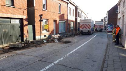 Gasleiding geraakt bij aanleg nieuw voetpad in Faliestraat