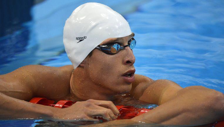 Pieter Timmers verzekerde zich in Doha van een plaatsje in de finale van de 100 meter vrije slag.
