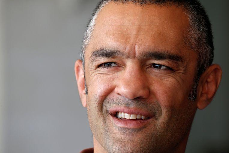 Mahyar Monshipour. Hij is een Franse bokser met Iraanse roots en heeft ervoor gezorgd dat Sadaf in Frankrijk kon boksen.  REUTERS/Regis Duvignau