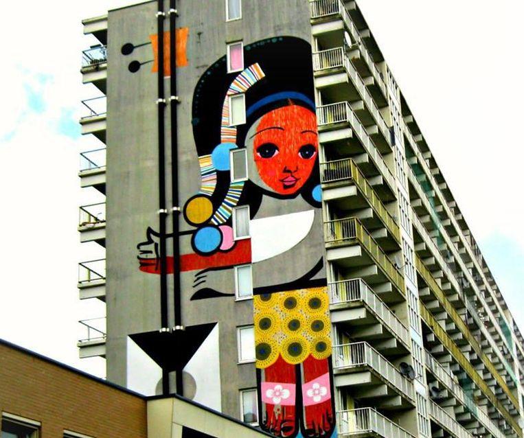 De favoriete muurschildering van Petra Hegenbart. Beeld Petra Hegenbart