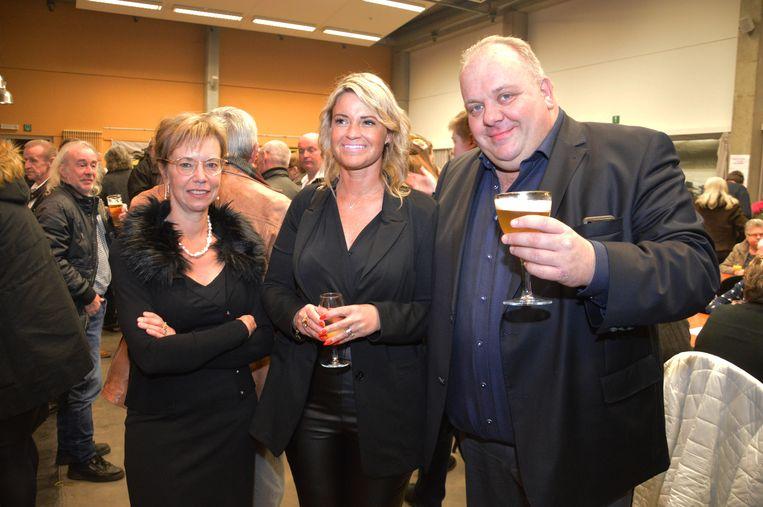 Guy D'haesleer met zijn partijgenoten tijdens de nieuwjaarsreceptie van Forza Ninove.