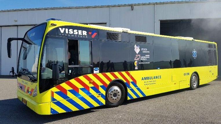 De ambulancebus is een omgebouwde lijnbus uit het openbaar vervoer.