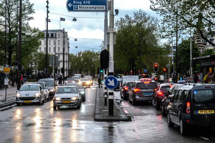 De Stadhouderskade was ook in 2018 een van de meest vervuilde straten van de stad.