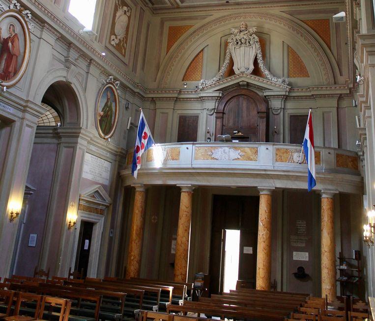 Interieur van de Friezenkerk. Beeld Flip van Doorn