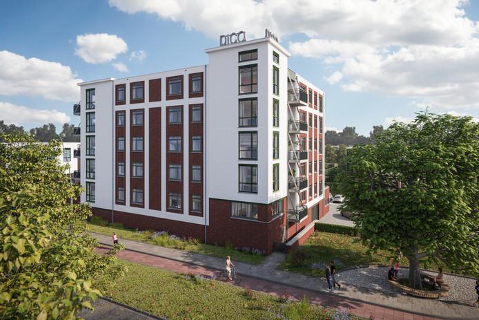 Zo komt het appartementencomplex van het Land van Dico eruit te zien.
