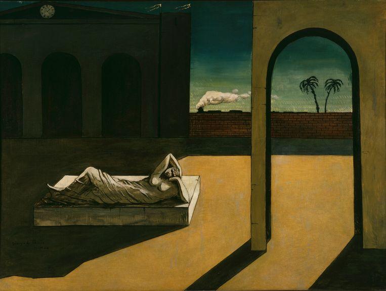 Giorgio De Chirico. De beloning van de waarzegster uit 1913. Beeld Philadelphia Museum of Art