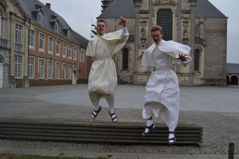 Novicen Nicolas De Brauwer en Wout Willems.