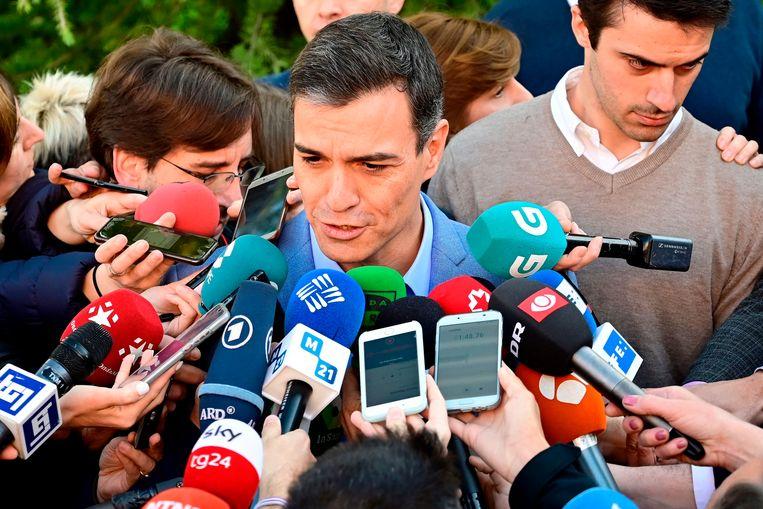 De partij van premier Pedro Sanchez wordt de grootste, maar haalt geen meerderheid.