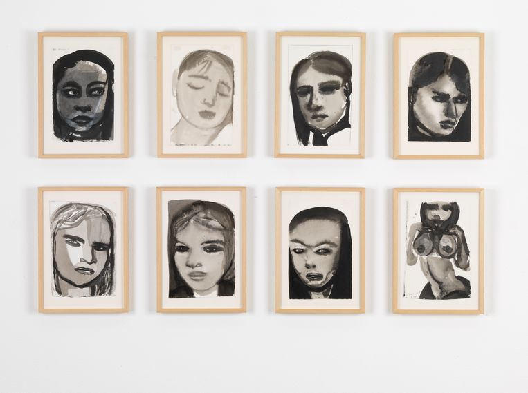 Marlene Dumas, Die Muzes. Beeld Collectie Museum Gouda