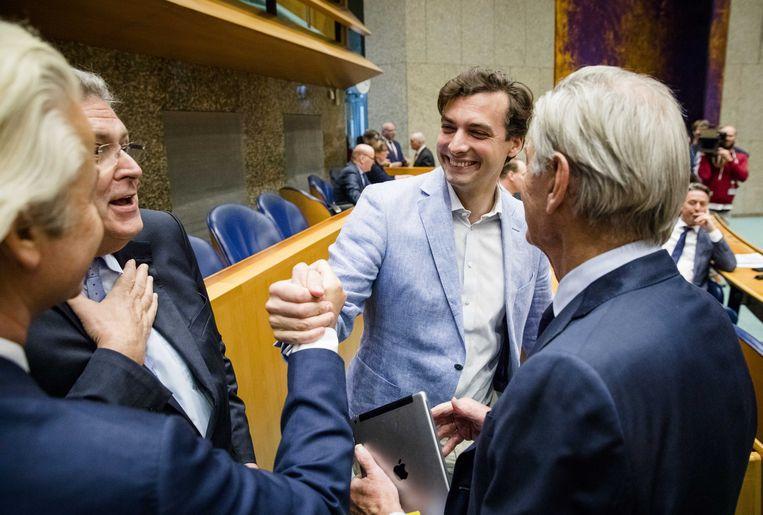 Thierry Baudet in de Tweede Kamer. Beeld ANP