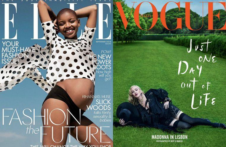 De cover van de Amerikaanse ELLE en de Italiaanse Vogue.