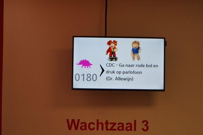 Een voorbeeld van een oproep op het scherm.