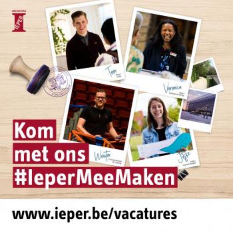 Met de campagne #IeperMeeMaken wil Ieper nieuwe medewerkers aantrekken.
