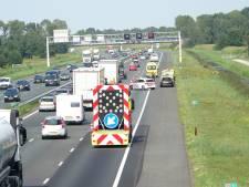 File door ongeval met vier auto's op A28 bij Rouveen