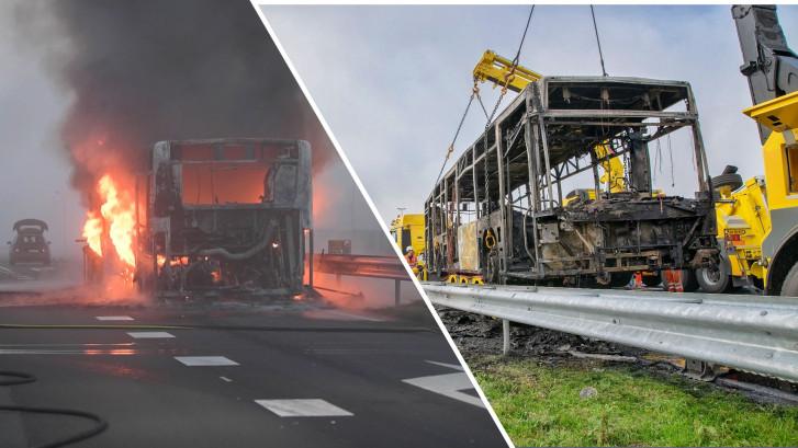Brabantse stadsbus gaat in vlammen op