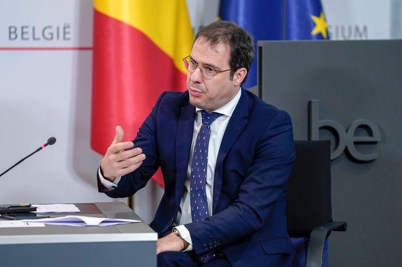 De huidige Belgische minister van Begroting David Clarinval (MR).