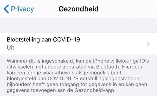 De functie staat standaard uit in iOS.