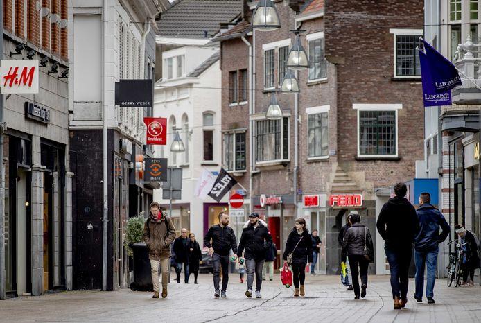 Een winkelstraat in het centrum van Tilburg. Foto ter illustratie.