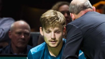 Goffin krijgt bal vol in het oog en moet strijd in halve finale Rotterdam staken, schade valt mee