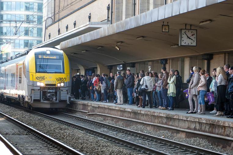 Illustratiebeeld: Trein NMBS in Brussel-Noord.