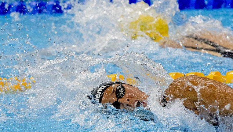 Ranomi Kromowidjojo tijdens de halve finale van de 100 meter vrij. Beeld ANP