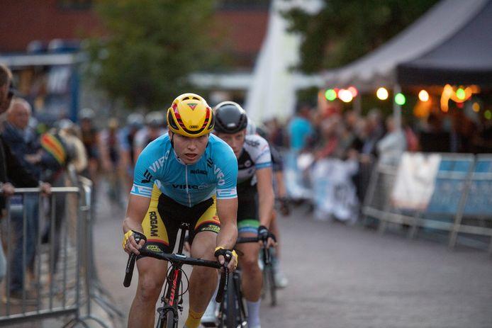 Jelle Wolsink, op de foto in actie tijdens de Ronde van Goor.
