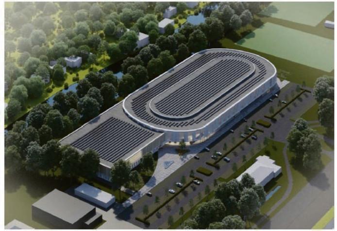 Impressie van de nieuwe ijsbaan in Leiden.