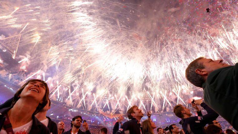 De sluitingsceremonie van de Olympische Spelen in Londen 2012. Beeld Reuters