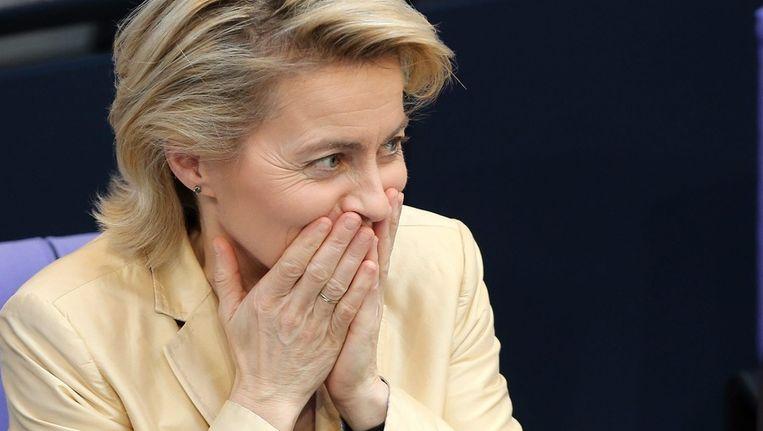 De Duitse minister van Werk en Sociale Zaken Ursula von der Leyen Beeld epa