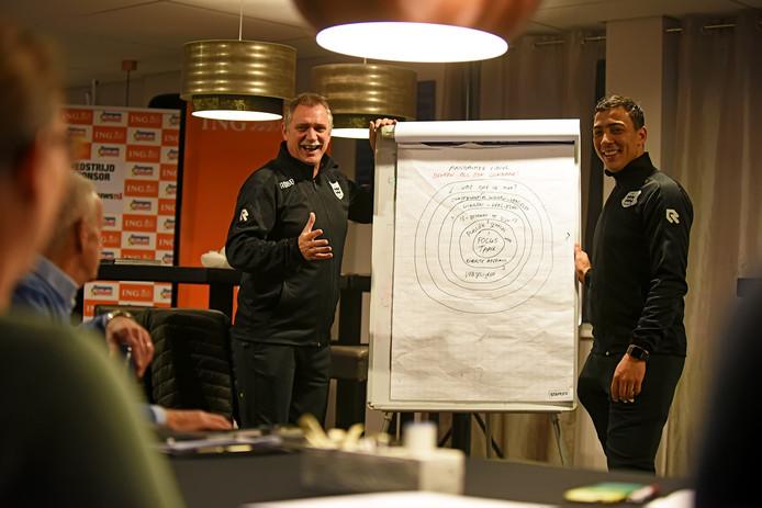 Ruud Kaiser (links) en Larry van Ommen (rechts).