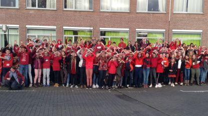 GO! campus Herzele kleurt rood op Rode Neuzen Dag