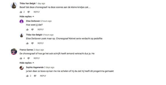 De bezorgde commentaren onder het laatste 'Making of #LikeMe'-filmpje.