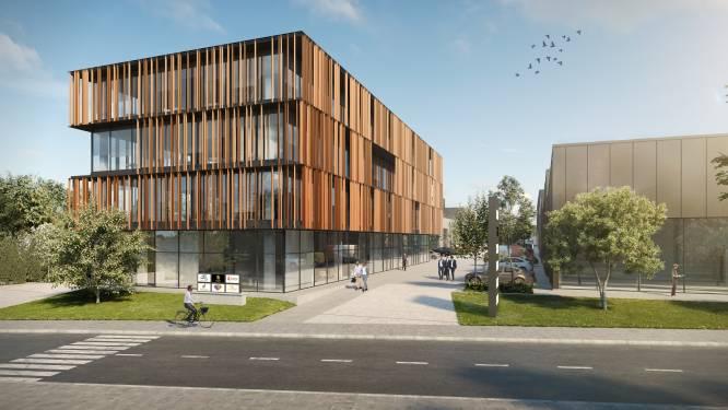Hexahub, het duurzame bedrijvenpark van de toekomst: kantoorgebouw, 28 kmo-ruimtes, maar ook sportdak, boomgaard en foodshop