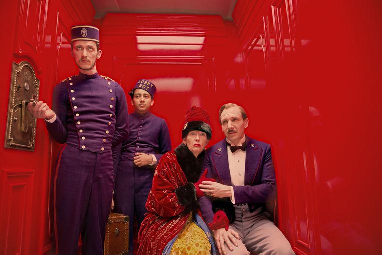Scène uit 'The Grand Budapest Hotel'.  Beeld TR BEELD