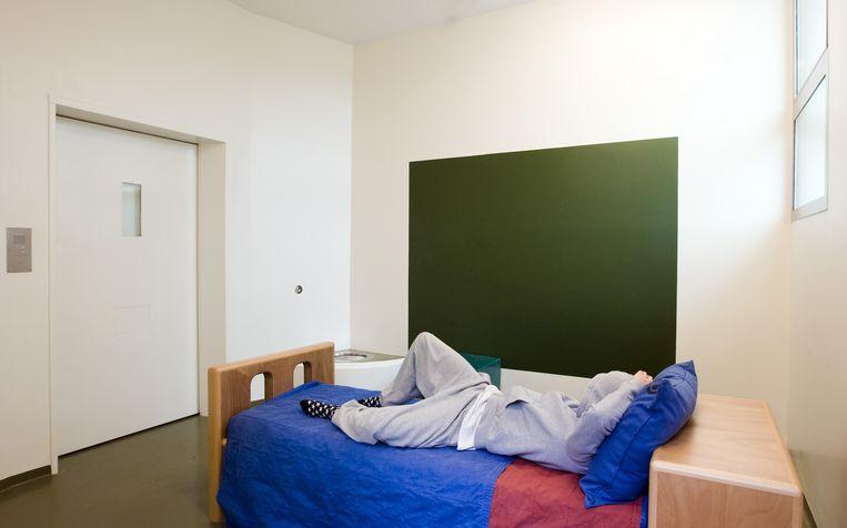 Isoleercel bij GGZ-instelling de Woenselse Poort in Eindhoven. De regels voor het gebruik van de isoleercel in psychiatrische instellingen worden vanaf volgend jaar strenger.  Beeld null