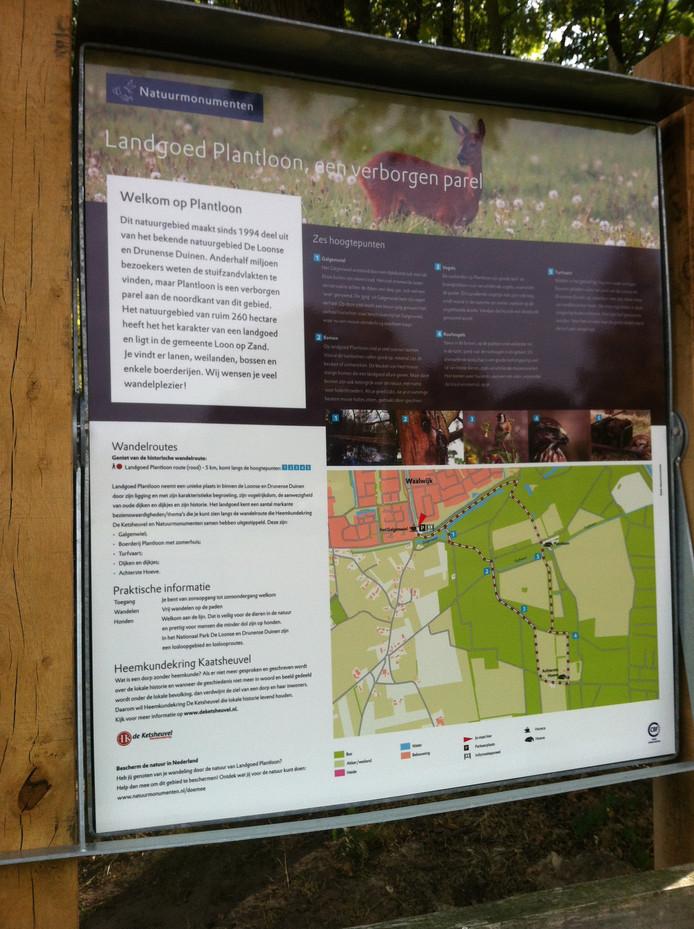 De wandelroute over Landgoed Plantloon.