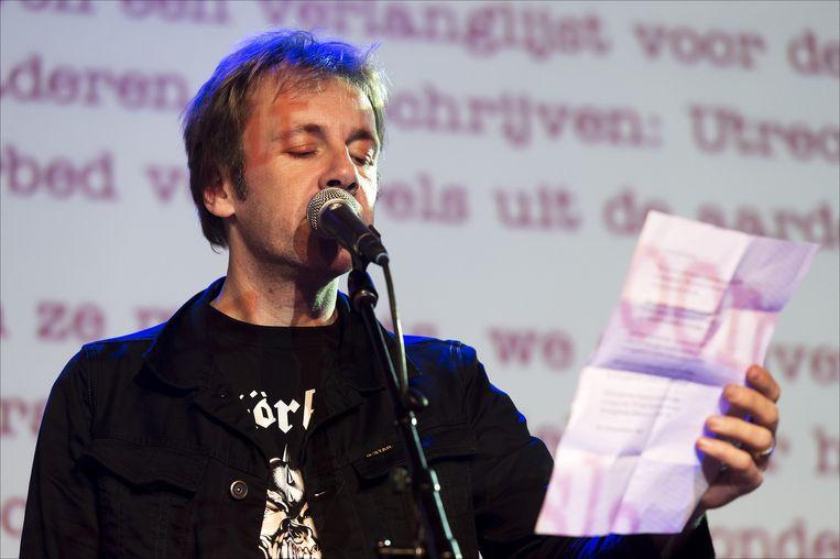 De dichter Ingmar Heytze in 2012. Beeld afp
