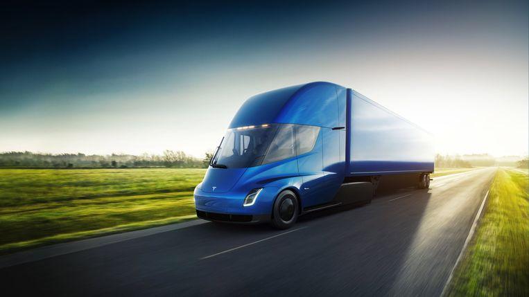 Vorige maand onthulde Tesla het prototype van zijn nieuwe elektrische truck die in 2019 in productie moet worden genomen.